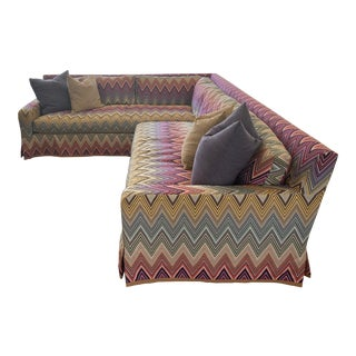 Stephen Gambrel Designed Custom Missoni Sectional For Sale
