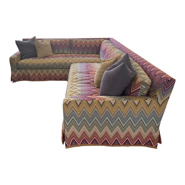 Stephen Gambrel Designed Custom Missoni Sectional For Sale