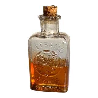 Antique Paris France Medical Glass Bottle With Cork Stopper For Sale