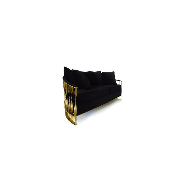 Brass Mandy Sofa From Covet Paris For Sale - Image 7 of 12