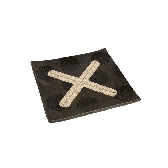 Contemporary X Platter by Matthew Ward For Sale