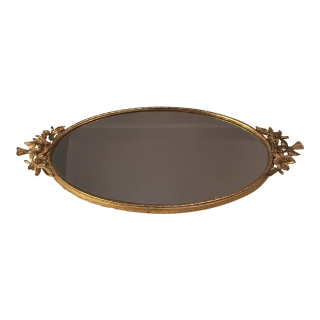 Ormolu Gold Mirrored Vanity Tray - Image 1 of 11
