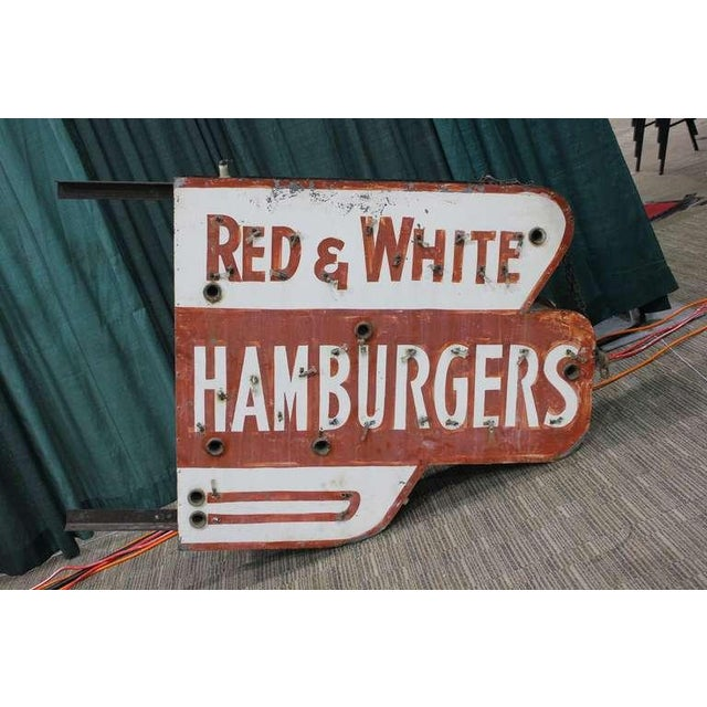 Red & White Hamburgers Sign - Image 2 of 3