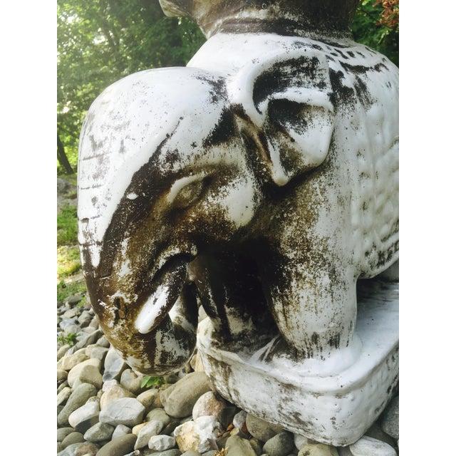 Glazed Ceramic Elephant Garden Stool / Side Table - Image 5 of 7