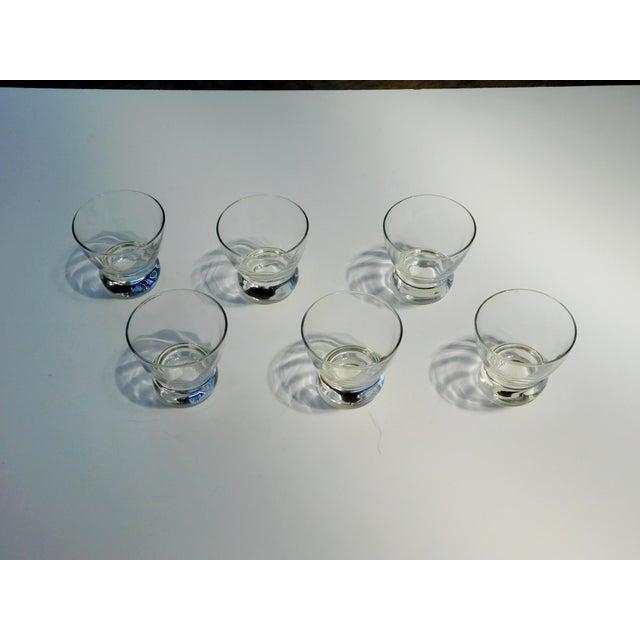 Mid-Century Modern Short Aperitif Glasses - Set of 6 For Sale - Image 3 of 9