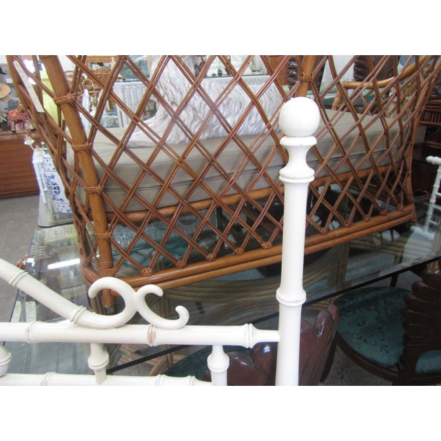 1970s Faux Bamboo King Size Headboard For Sale - Image 4 of 8