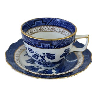 Mid-Century English Willow Cup & Saucer For Sale