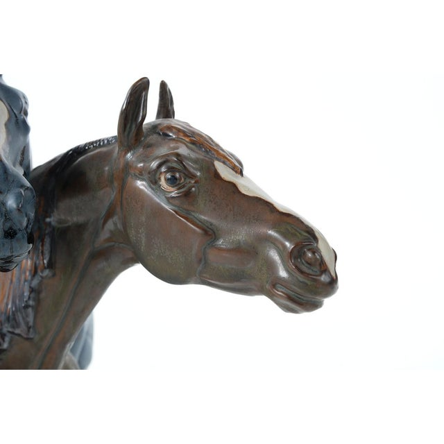 "Jose Roig Porcelain ""Horse Heads"" - Image 3 of 9"