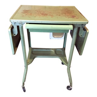 Industrial Steel Typewriter Table