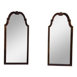 Italian La Barge Gold Painted Wall Mirrors - a Pair