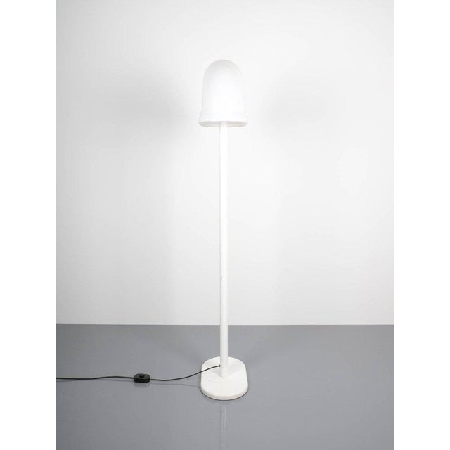 Rodolfo Bonetto Rodolfo Bonetto White Metal Lucite Floor Lamp Guzzini, Italy, 1970 For Sale - Image 4 of 9
