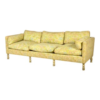 Final Markdown Corsican Citron & Fraise Mid-Century Sofa by Heritage Henredon