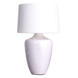 "White Crackle Finish ""Snap"" Lamp"