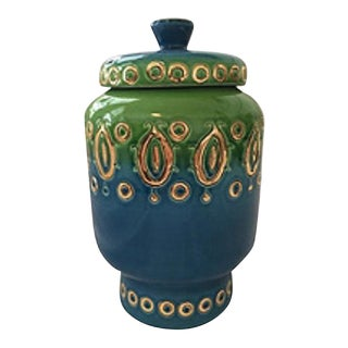 Italian Mid-Century Rosenthal-Netter Attributed Covered Jar For Sale