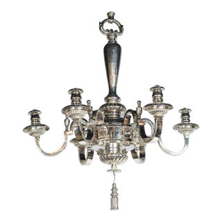 Antique 1900s Caldwell Silver Plated Chandelier For Sale