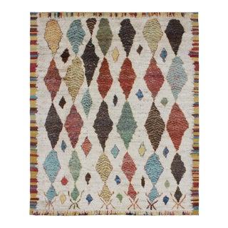 Hand-Knotted Moroccan Shag Rug - 8′4″ × 9′8″ For Sale