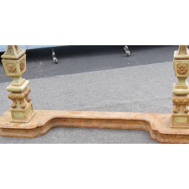 Mid 20th Century Florentine Marble Top Console Table For Sale - Image 5 of 9