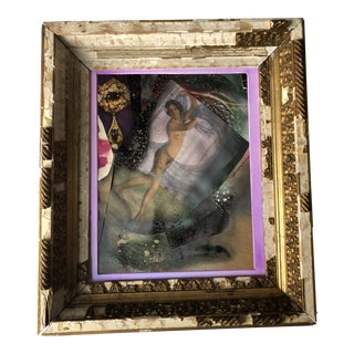 """Original Collage """"a Celebrated Woman"""" 14x16 Salvage Frame For Sale"""