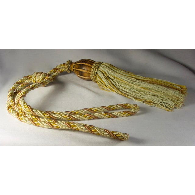 Traditional Rope Drapery Tie Backs - a Pair For Sale - Image 3 of 6