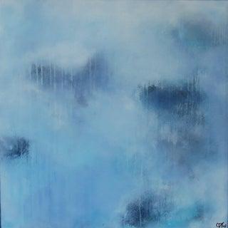 Forever Blue Aura, 2. Framed Oil/Acrylic on Panel. 2020 by C. Damien Fox For Sale
