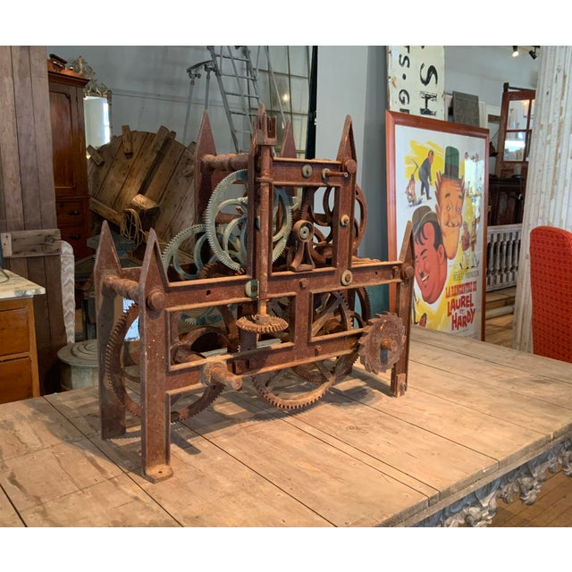 19th Century Large Iron Clockworks For Sale - Image 9 of 10