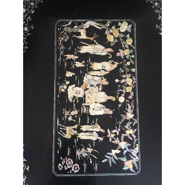 Asian Chinoiserie Lacquered Coffee Table For Sale - Image 3 of 7