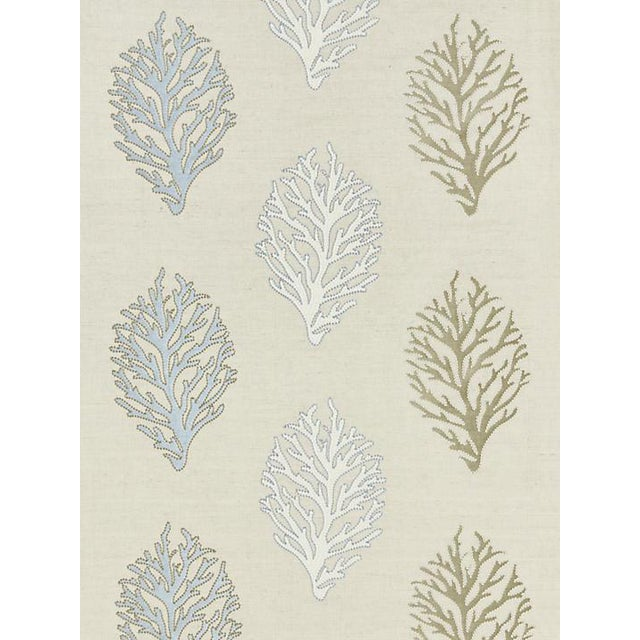 Scalamandre Coral Reef Embroidery, Sand Fabric For Sale