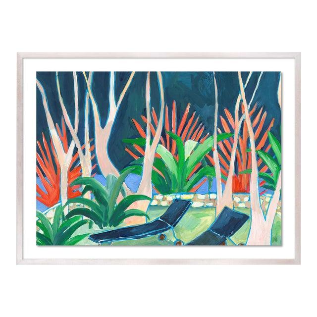 Stargazer by Lulu DK in White Wash Framed Paper, Small Art Print For Sale
