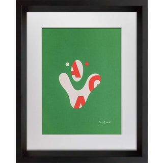 Abstract Paul Rand Original Serigraph Graphic Art 1975 Limited Edition W/Custom Framing For Sale