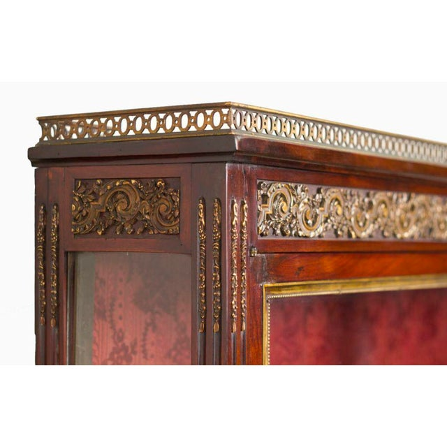 French 19th Century Louis XVI Style Walnut Bookcase Commode For Sale - Image 3 of 8