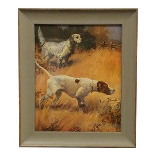 Vintage Dog Print Custom Framed