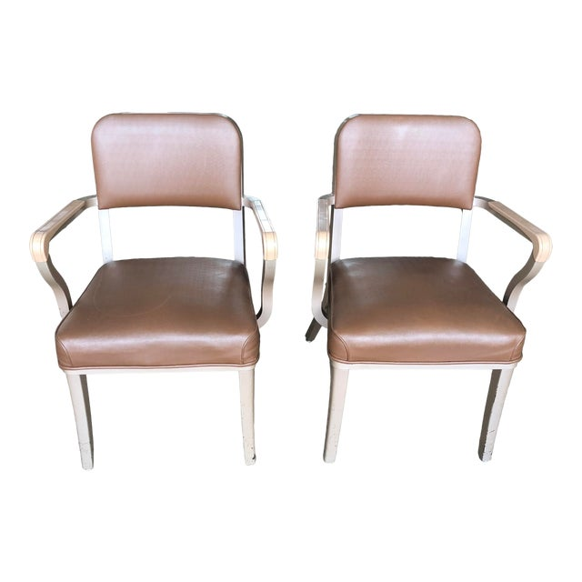 Steelcase Mid Century Industrial Arm Chairs - a Pair For Sale