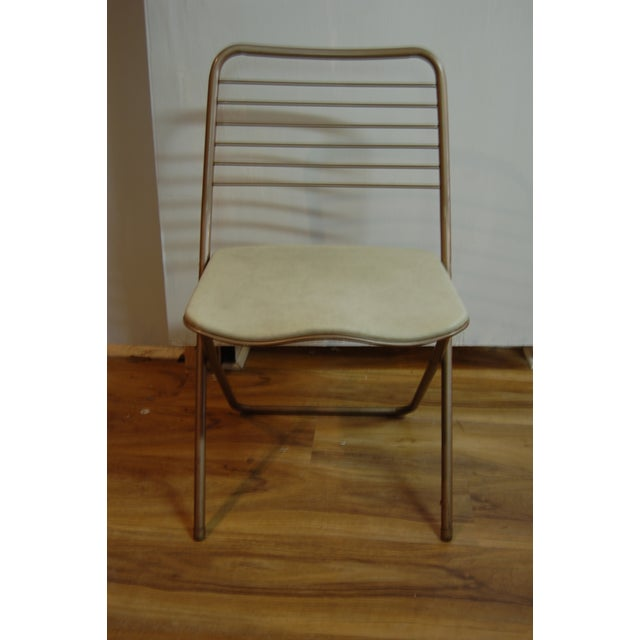 Mid-Century Modern Vintage Stylaire Metal Folding Chairs - 4 For Sale - Image 3 of 9