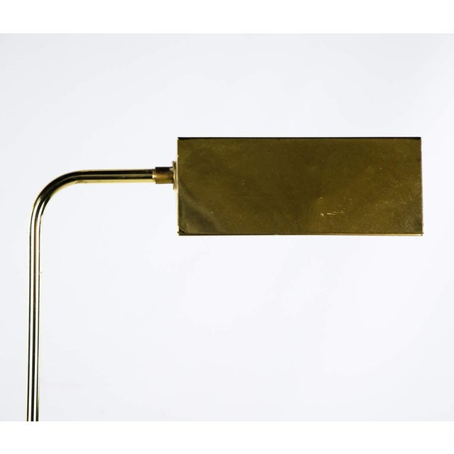 Metal Mid Century Modern Style Brass Adjustable Reading Floor Lamp For Sale - Image 7 of 13