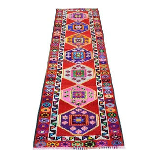 Late 20th Century Turkish Runner-2′8″ × 7′7″ For Sale