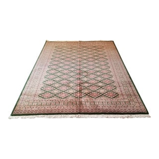 Hand Woven Wool Afghan Rug - 6′1″ × 9′6″ For Sale