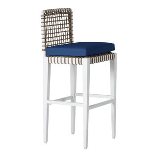 Delta Kappa Bar Stool in Pacific Blue For Sale