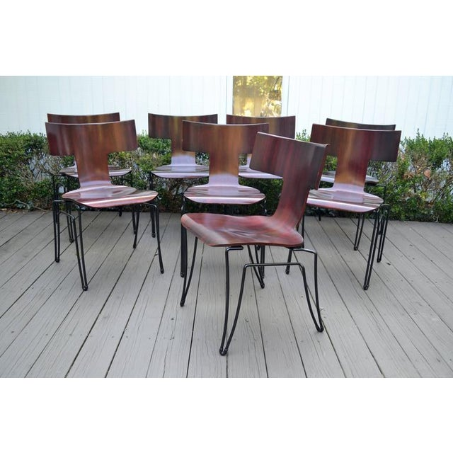Anziano Dining Chairs by John Hutton for Donghia For Sale - Image 10 of 10