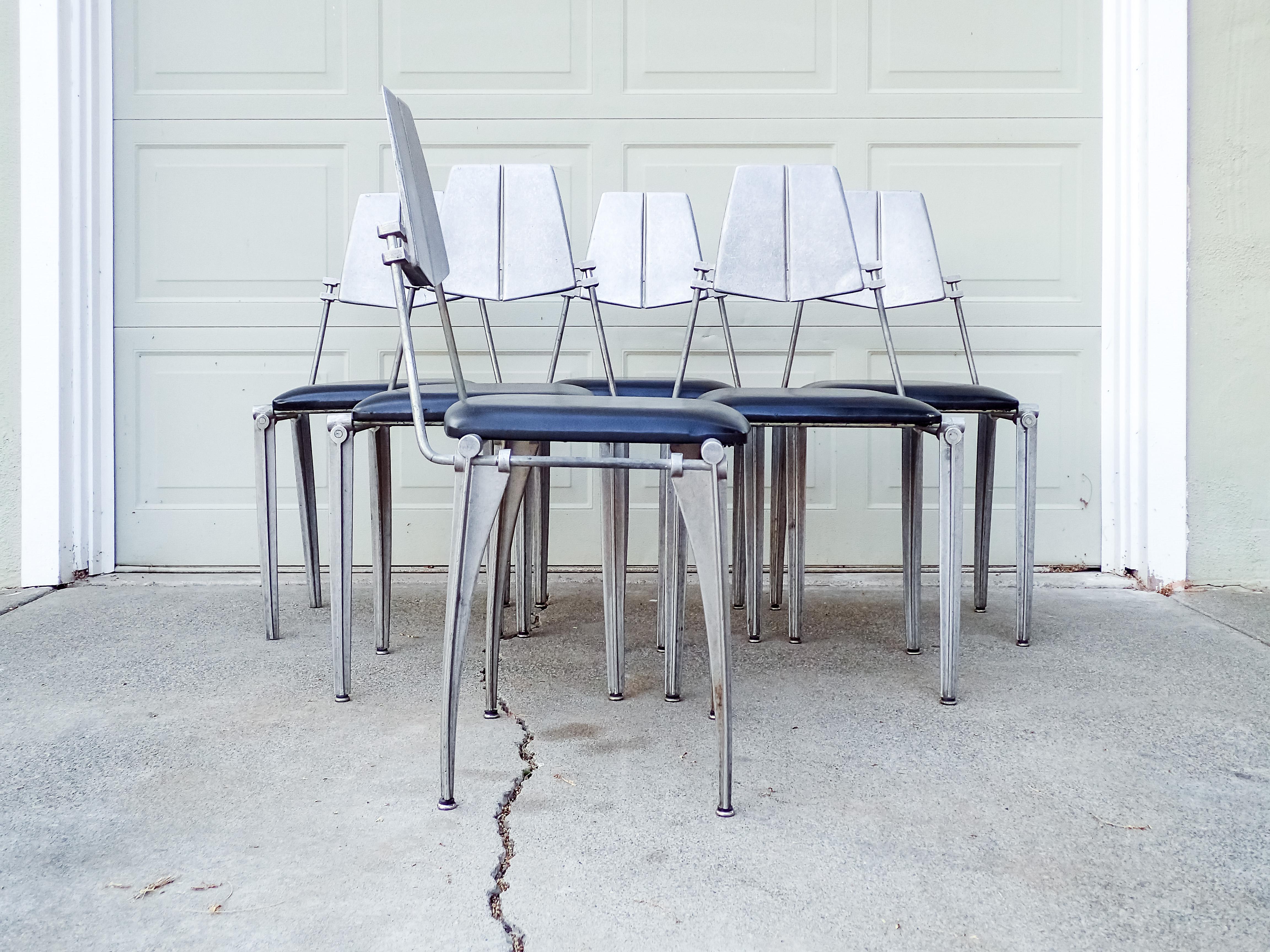 Brutalist Robert Josten Cast Aluminum Dining Chairs   Set Of 6 For Sale    Image 3