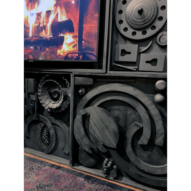 Wood Gt Atelier Custom Tv Art Wall by the Golden Triangle Chicago For Sale - Image 7 of 13
