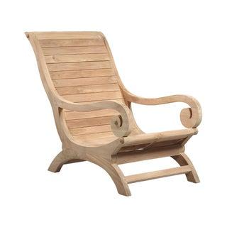 Teak Wood Lounge Chair For Sale