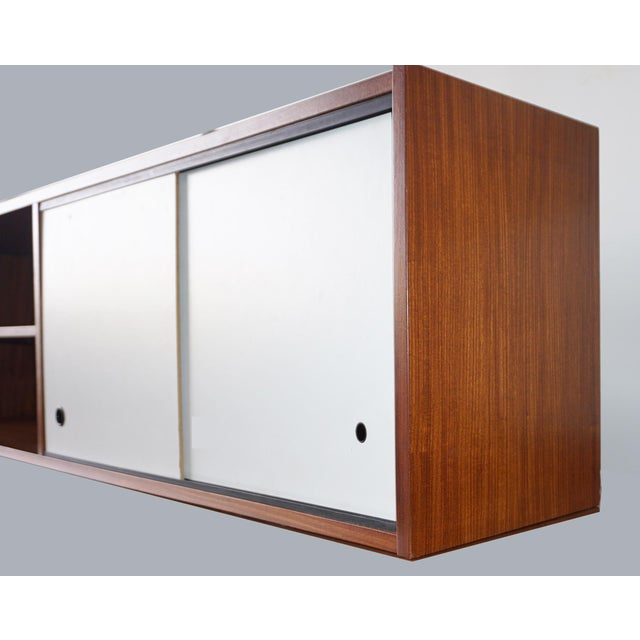 Mid-Century Wall Cabinet. This can easily be mounted on a wall or you could have legs made and use it as a credenza.
