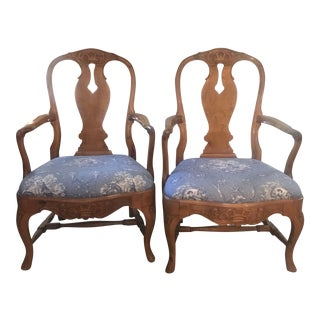 Swedish Birch Armchairs - a Pair For Sale