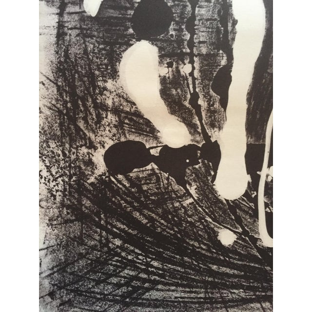 1950s Mid Century Modern Abstract Stone Litho Jerry Opper For Sale - Image 5 of 7