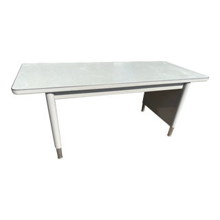 Vintage Steelcase Metal Writing Desk For Sale