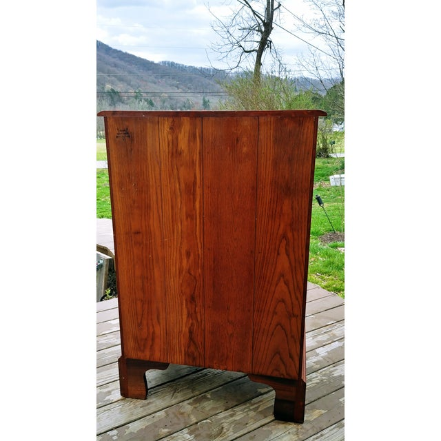 1950s Traditional Virginia Craftsmen Reproduction Solid Cherry Tall Chest of 6 Drawers For Sale - Image 4 of 13