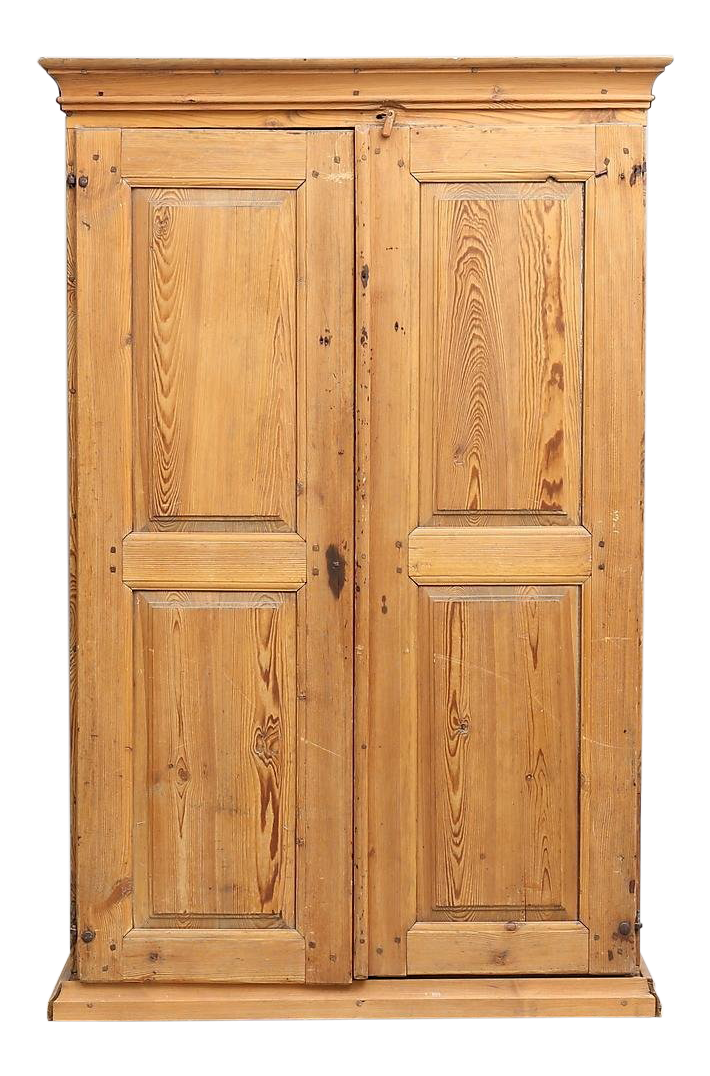 Beau 19th Century Rustic Wooden Cabinet/Wardrobe