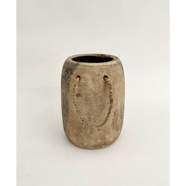 Hanging Rustic Wood Honey Pot For Sale - Image 4 of 6