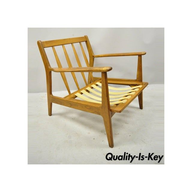 Mid 20th Century Modern Baumritter Walnut Lounge Danish Style Arm Chair For Sale - Image 12 of 12