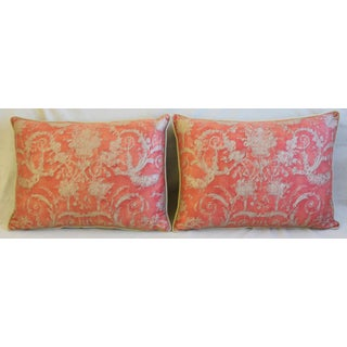 """Italian Fortuny Festoni Feather/Down Pillows 24"""" X 18"""" - Pair Preview"""